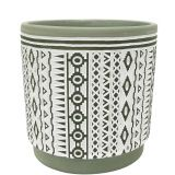 Sale Corby Aztec Planter Green Med 12.5c