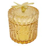 Tommy Glass Canister Amber 11cm