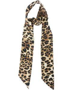 Leopard Print Hair Tie Brown