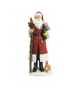 Woodland Santa Standing Decoration Red 3