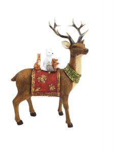 Woodland Reindeer Standing Decoration Br