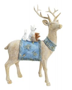 Woodland Reindeer Standing Decoration Be