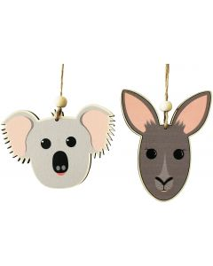 Koala  Kangaroo Hanging Decoration Grey