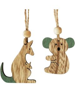 Koala  Kangaroo Hanging Decoration Sage
