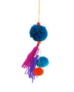 Pom Pom Tassel Hanging Decoration Bright