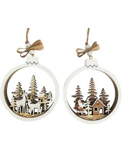 Christmas Scene Bauble Hanging Decoratio