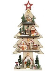Christmas Tree House Standing Decoration