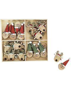 Reindeer & Santa Scatters Red 16cm S/36