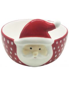Santa Bowl Red & White 10cm
