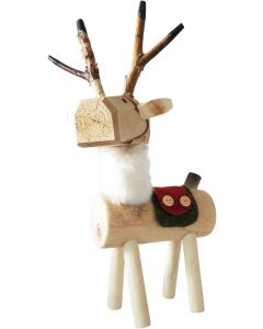 Woodland Reindeer with Fur Decoration Na