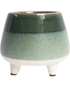 Sale Two Toned Planter with Legs Green M
