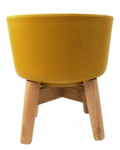 Ainsley Planter with Legs Mustard Med 23