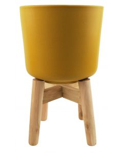 Ainsley Planter with Legs Mustard Lg 32c