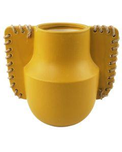 Ainsley Vase Mustard Med 23cm
