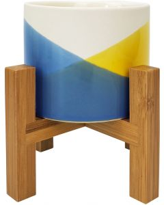 Skyla Planter with Legs Blue  Yellow 13