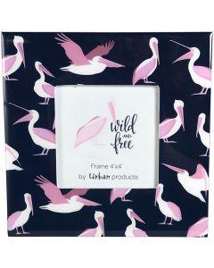 Sale Wild Free Pelicans Frame Pink 4x4