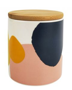 Elena Abstract Canister Blue & Yellow 1