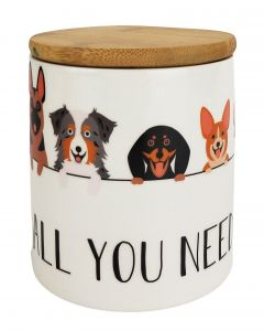 All You Need is Love & Dogs Canister Mu