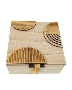 Kiana Abstract Box Natural 15x7cm