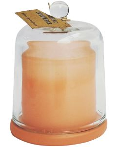 Dome Glass Soy Candle Peach 11cm