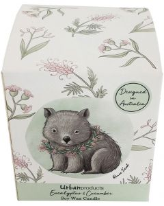 RT Wombat Boxed Soy Candle Grey 9cm