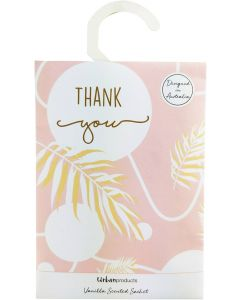 Thank You Scented Sachet Pink 16cm