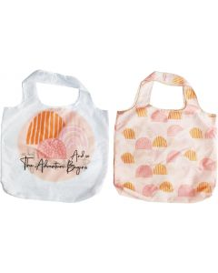 Rainbow Adventure Eco Bag White & Peach