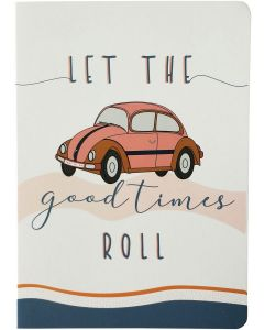 Let The Good Times Roll Journal Peach A5