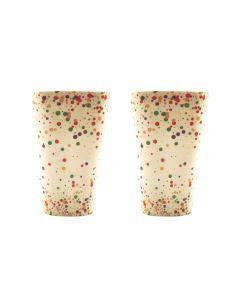 Confetti Eco Cups Colourful 8cm S/2